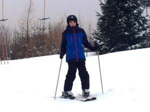 Drei Martinschüler standen zum ersten Mal auf Skiern. Alle haben sich riesig angestrengt und sind gut den Psulusberg wieder runter gekommen! Justin Kürbel